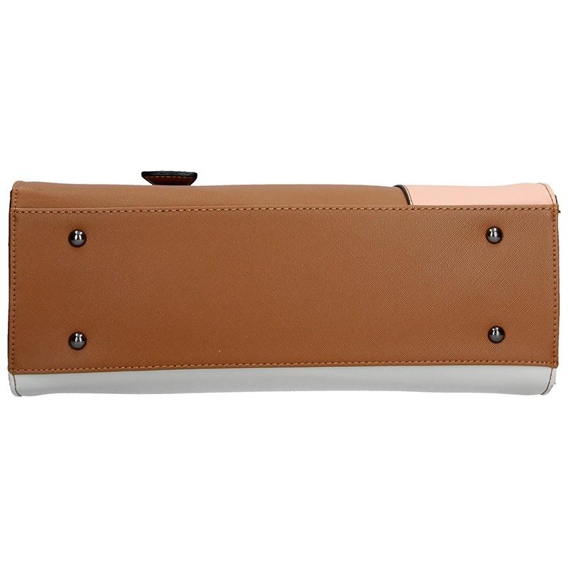 Dámská kožená kabelka Vera Pelle Silvia - béžová