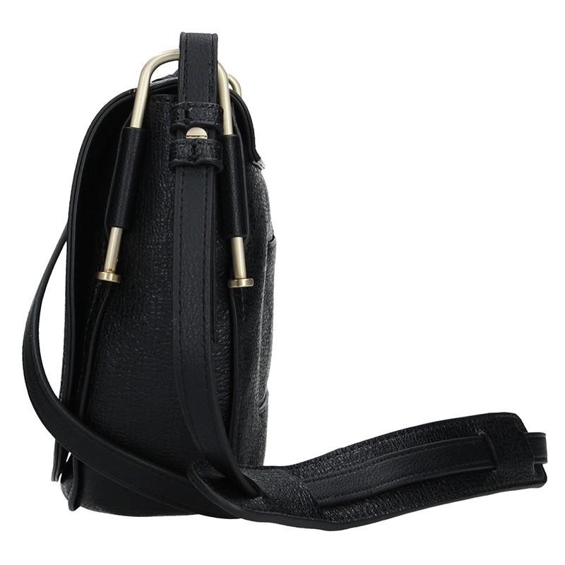 Pánská kožená taška přes rameno Hexagona 123898 - černá