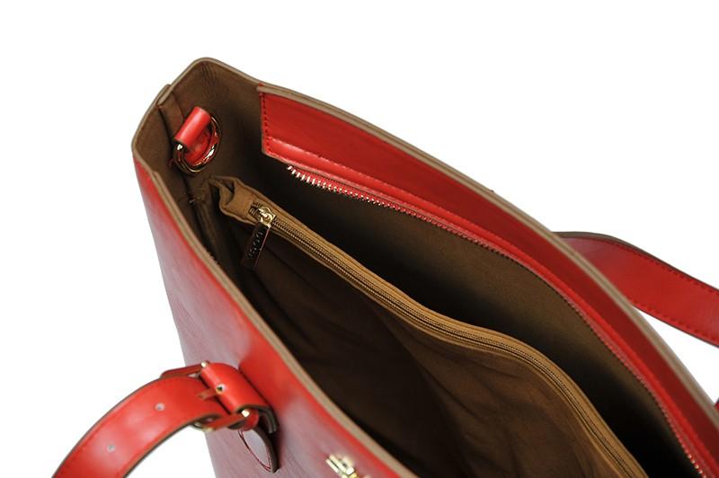 Pánská kožená taška přes rameno Hexagona 123477 - černá