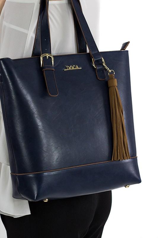Pánská kožená taška přes rameno Hexagona 123478 - černá