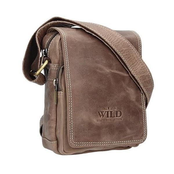 Pánská celokožený taška Vera Pelle Clasic - hnědá