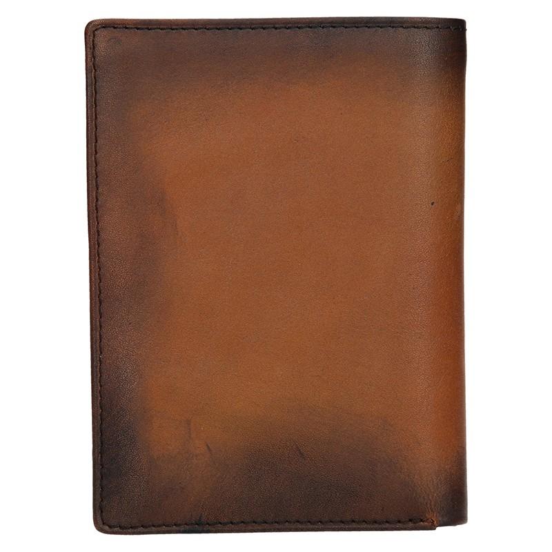 Pánská kožená taška přes rameno Hexagona 184412 - tmavě hnědá