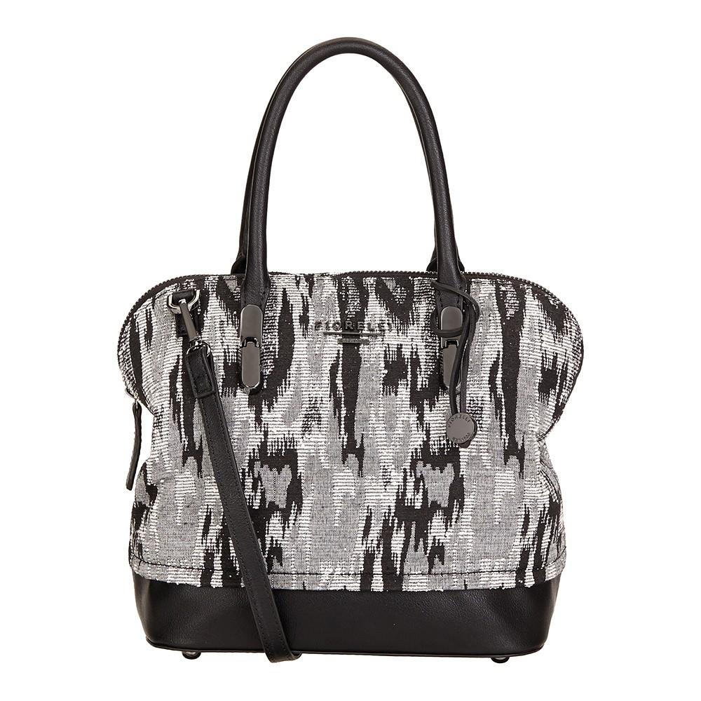 Elegantní dámská kožená kabelka Laura - černá