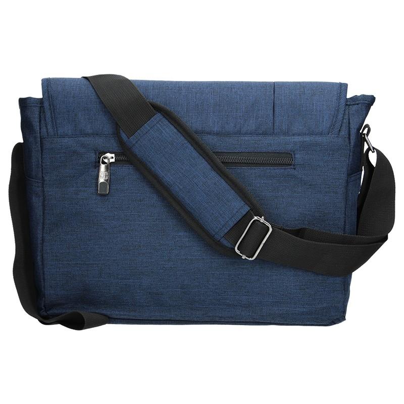 Pánská kožená taška přes rameno Lagen Alan - hnědá