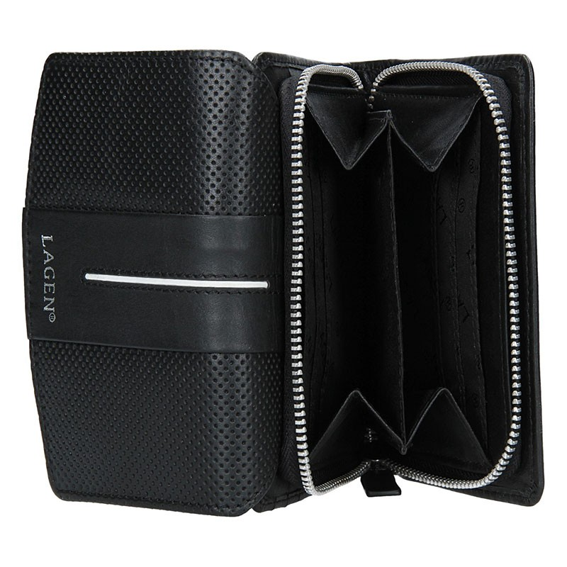 Dámský batůžek Doca 11988 - černo-bílá