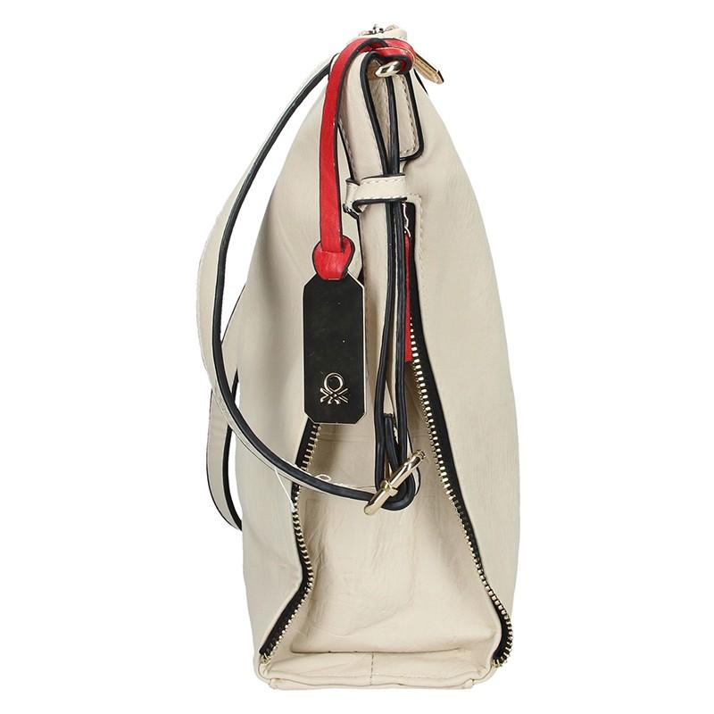Dámská kožená kabelka Facebag Joana - stříbrná