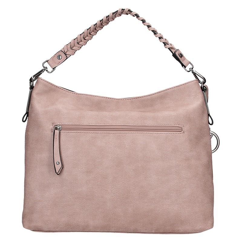Dámský kožený batoh Facebag Linda - staro růžová