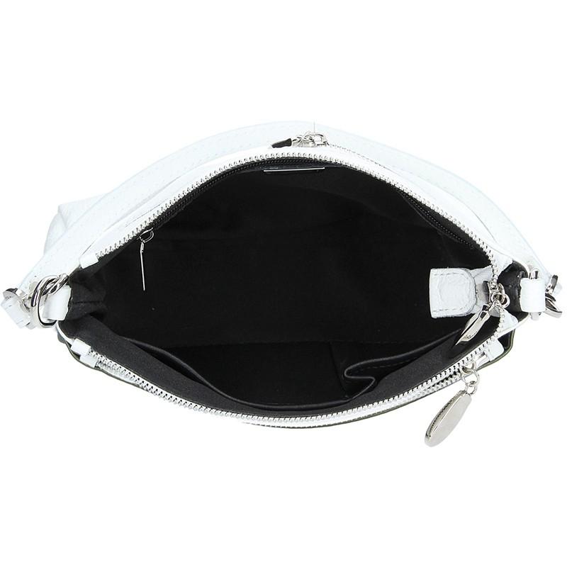 Pánská kožená taška přes rameno Hexagona 143954 - černá