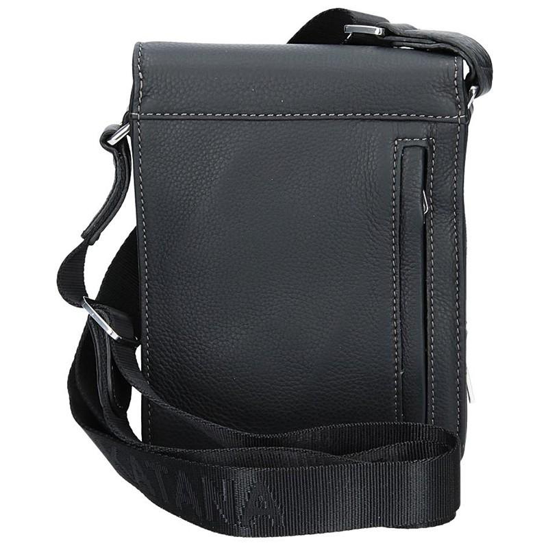 Pánská kožená taška přes rameno Hexagona 469565 - černá