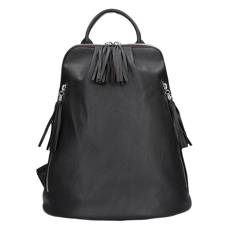 Pánská kožená taška přes rameno SendiDesign IG006 - hnědá