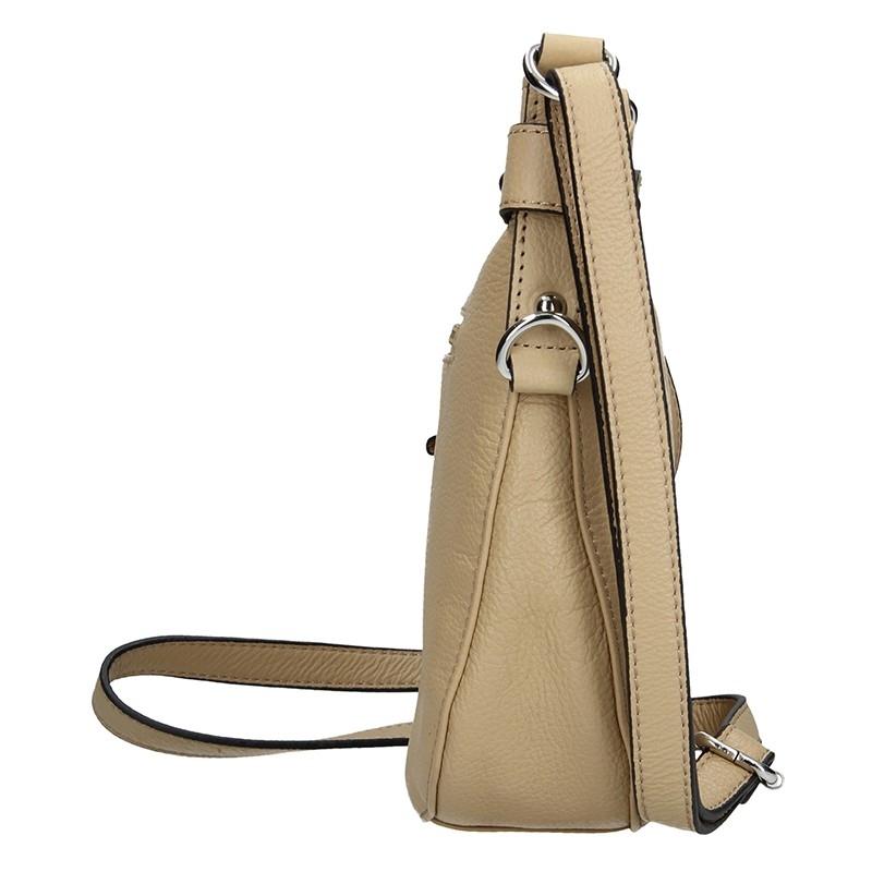 Dámská kožená kabelka Bella - hnědá