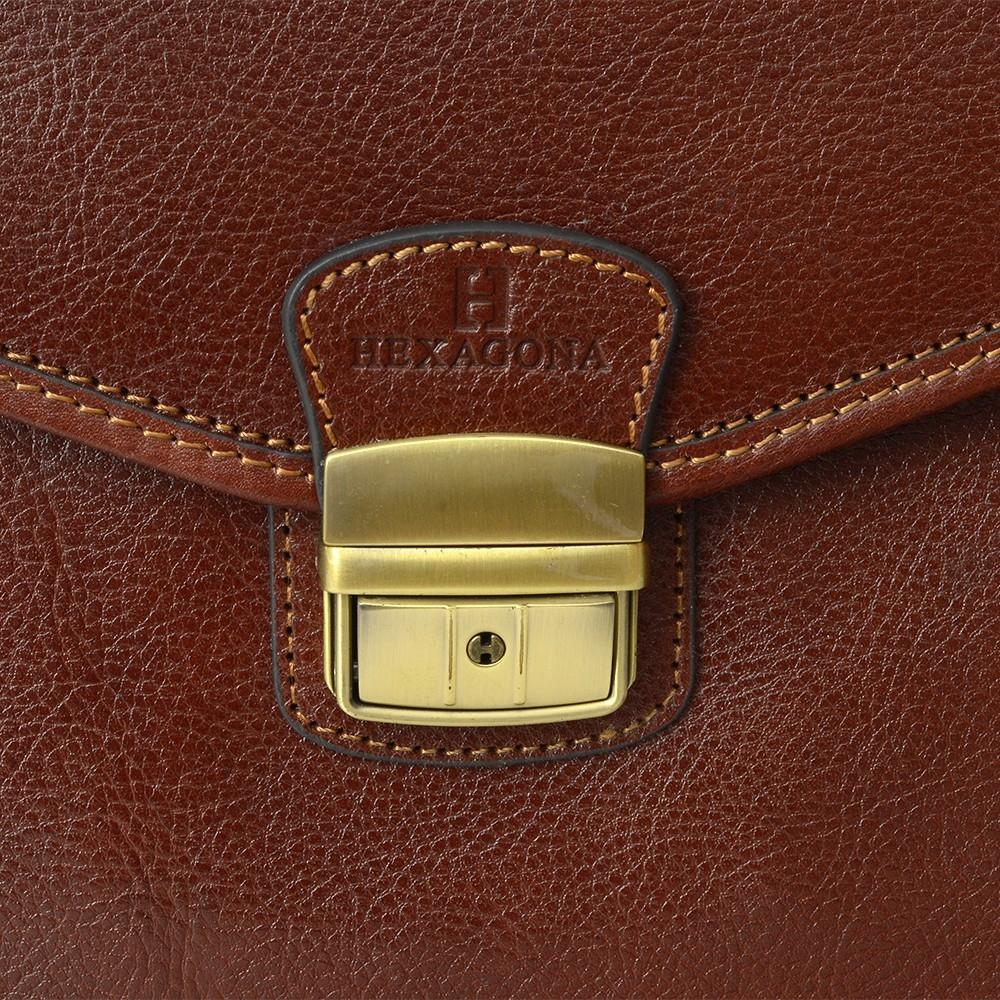 Pánská kožená taška přes rameno Hexagona 854016 - černá
