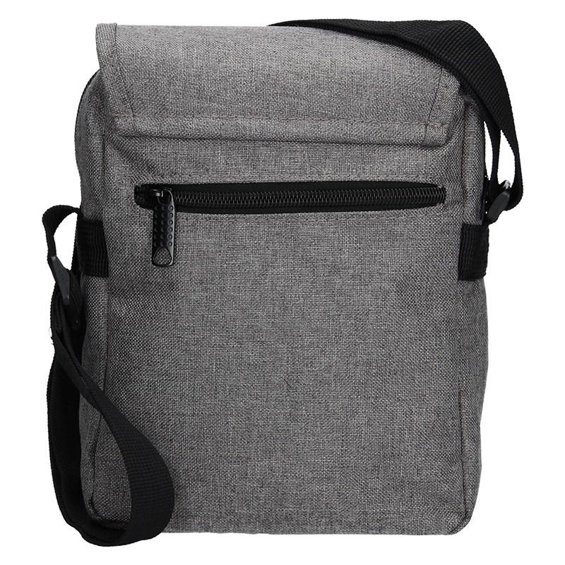 Pánská kožená taška přes rameno Lagen 3016/T - černá