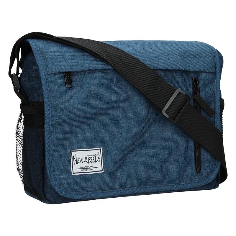 Pánská kožená taška přes rameno Lagen 3057/T - černá