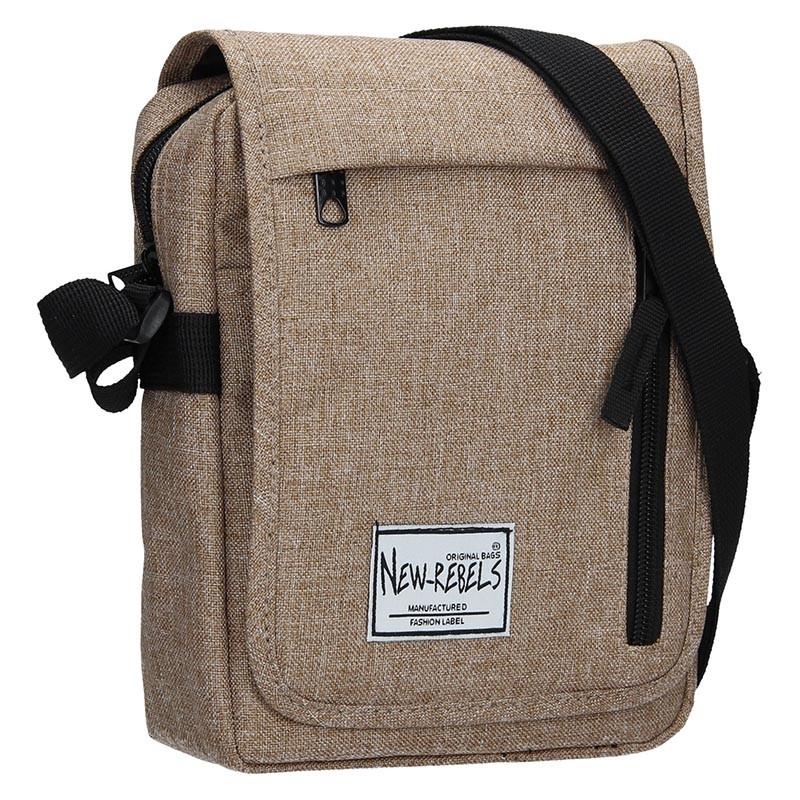 Pánská kožená taška přes rameno Lagen 2117 - hnědá