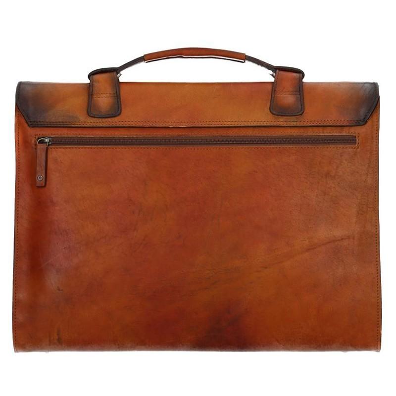 Luxusní pánská kožená taška Daag ALIVE 32 - hnědá