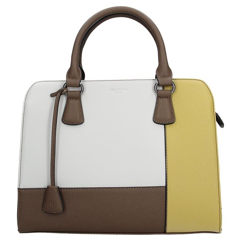 Dámská kabelka Hexagona 505235 - bílo-žlutá 9d2d08718d5