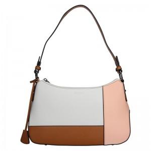 Dámská kabelka Hexagona 505236 - bílo-růžová