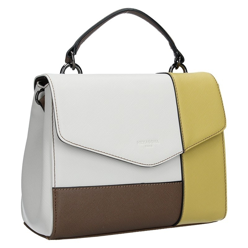 Dámská kabelka Hexagona 505237 - bílo-žlutá