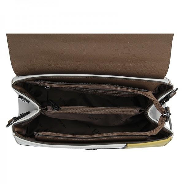Dámská kabelka Hexagona 505237 - bílo-růžová