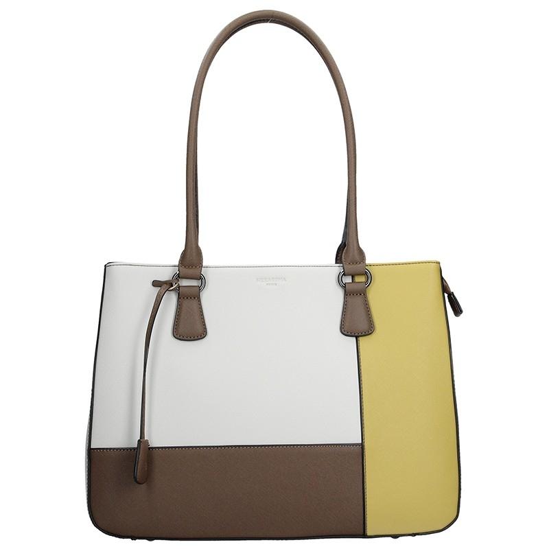 Dámská kabelka Hexagona 505239 - bílo-žlutá 6664811afec