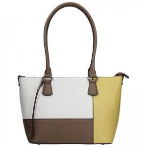 Dámská kabelka Hexagona 505242 - bílo-žlutá