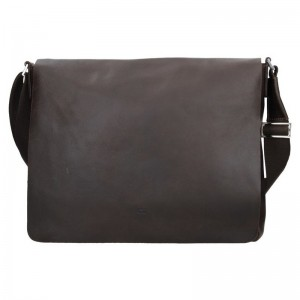 Kožená pánská taška Daag SMASH 74 - tmavě hnědá