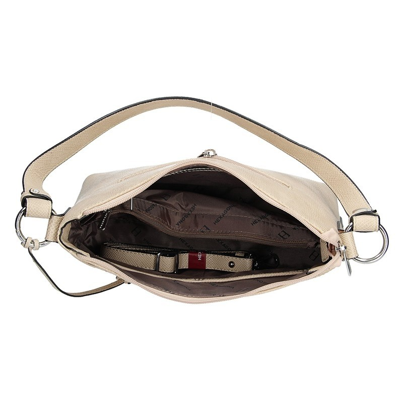 Dámská kabelka Hexagona 495349 - béžová