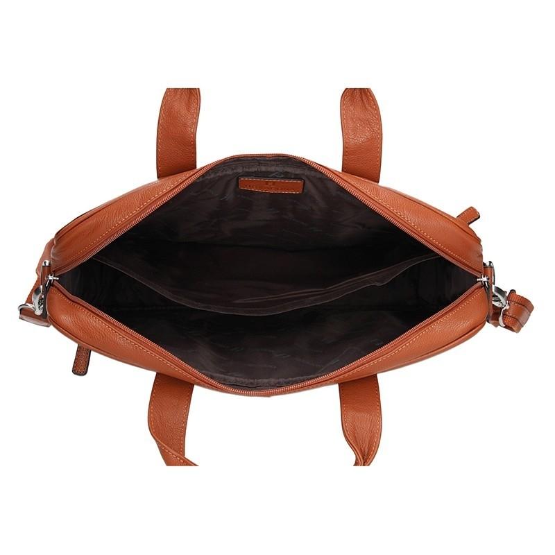 Pánská kožená taška přes rameno Hexagona Tango - oranžová