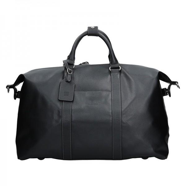 Pánská celokožená cestovní taška Hexagona 463134 - černá