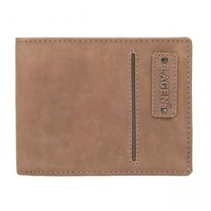 Pánská kožená peněženka Lagen Hubert - hnědá