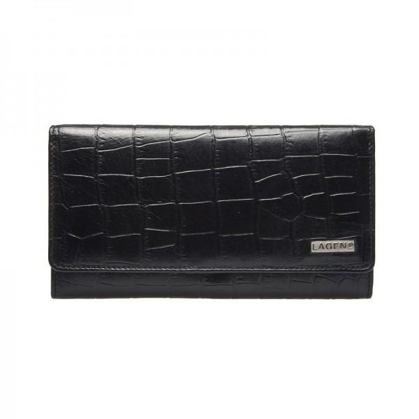 Dámská kožená peněženka Lagen Líza - černá