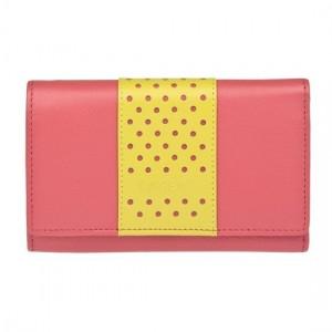 Dámská kožená peněženka Lagen Livia - růžová