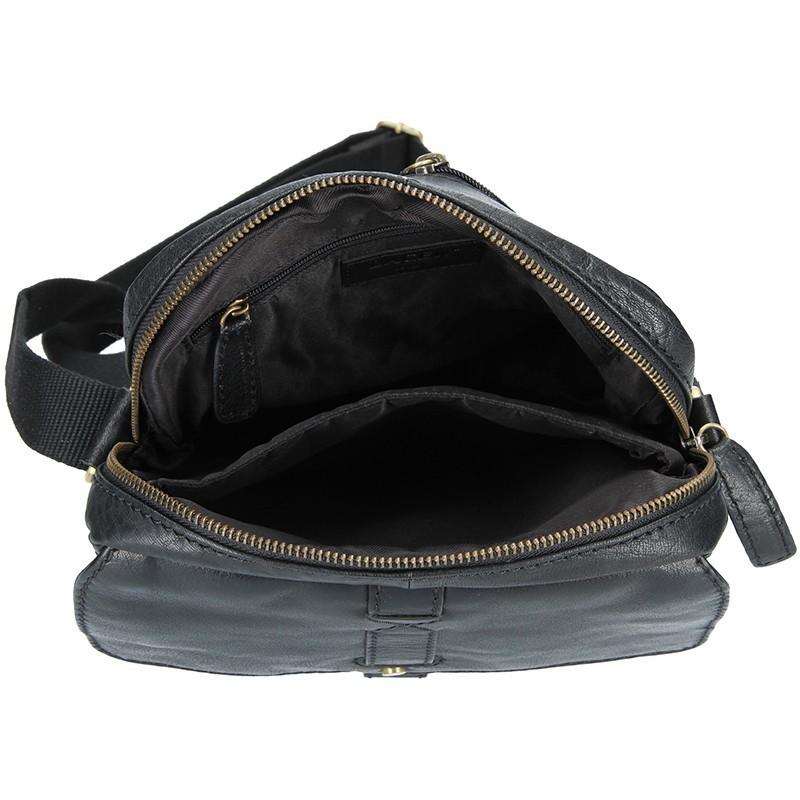 Pánská kožená taška přes rameno Lagen Robert - černá