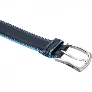 Pánský kožený opasek Lerros Matis - modrá