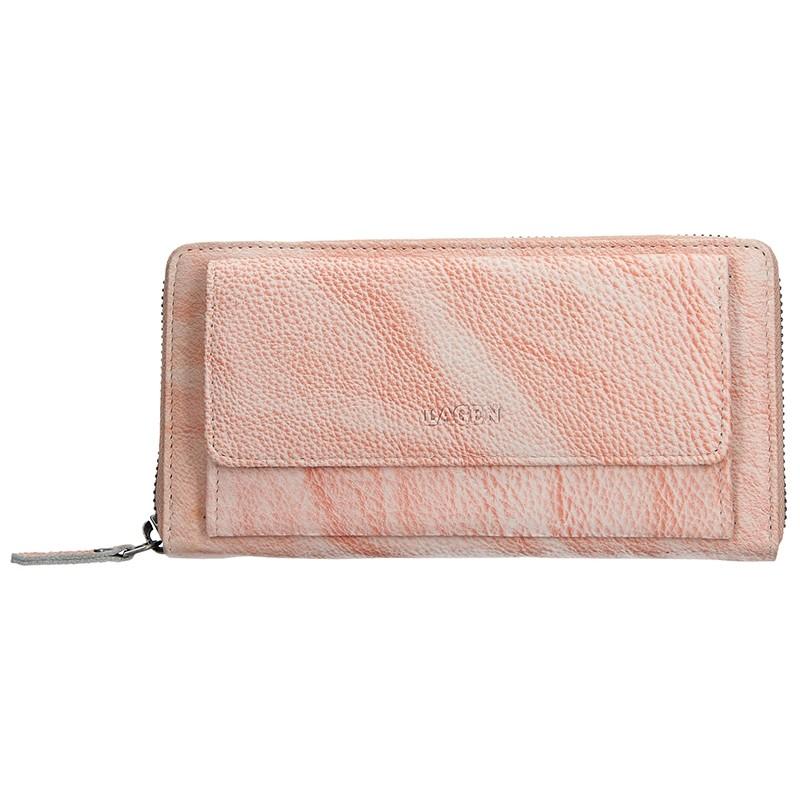 Dámská kožená peněženka Lagen Maria - lososová