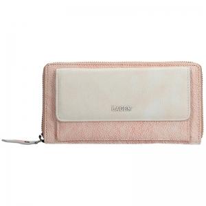 Dámská kožená peněženka Lagen Maria - růžovo-béžová