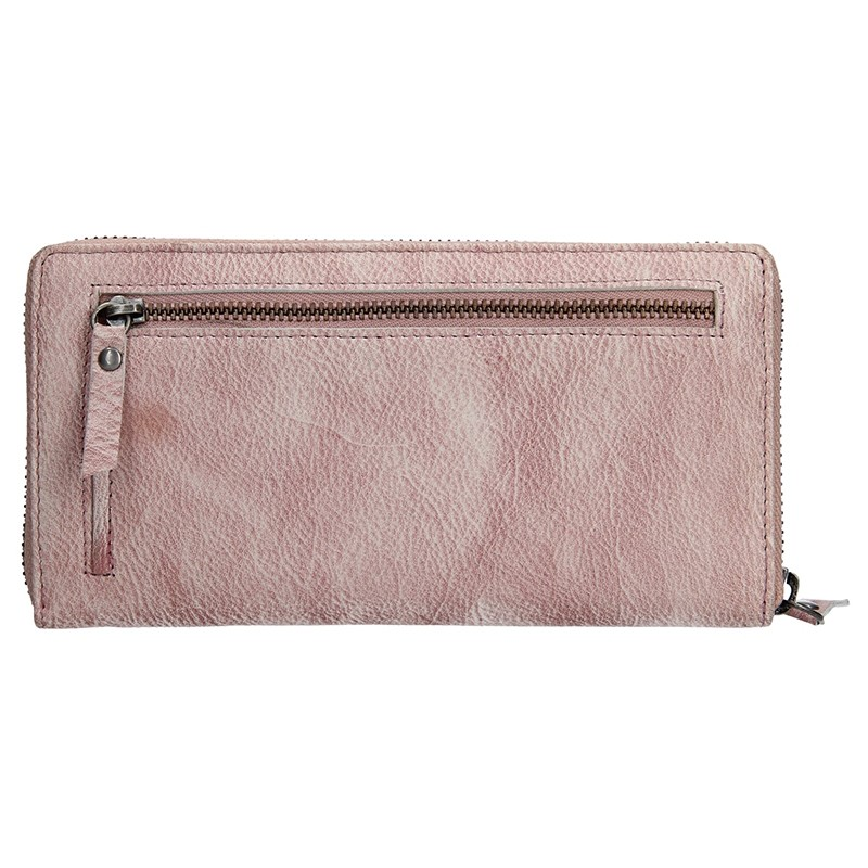 Dámská kožená peněženka Lagen Maria - fialovo-stříbrná