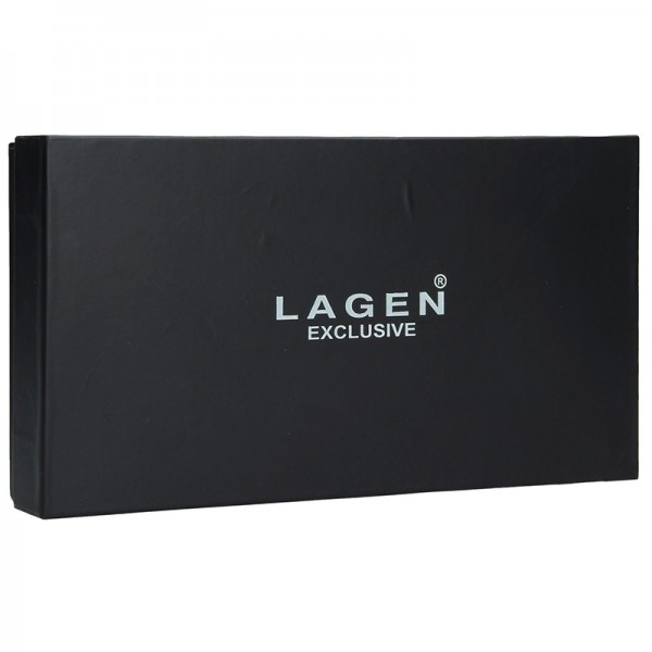 Dámská kožená peněženka Lagen Maria - modrá
