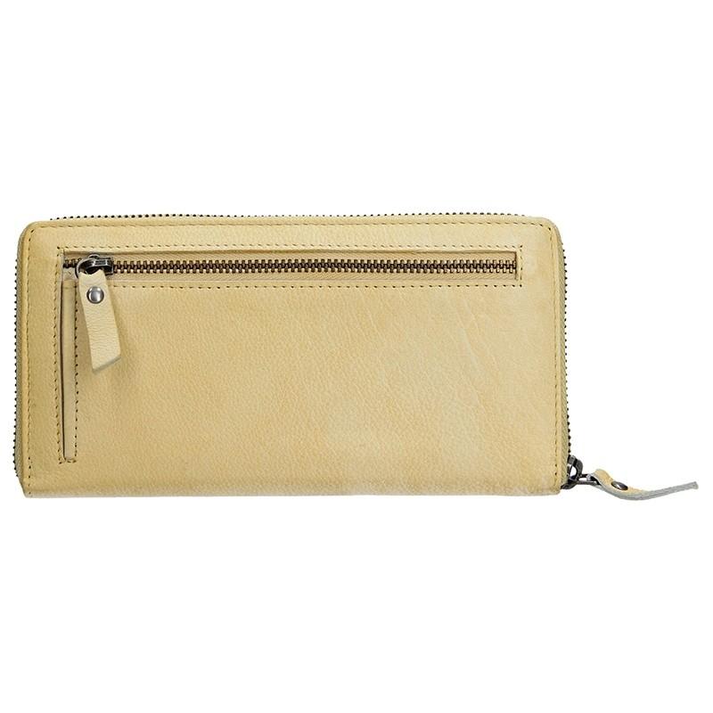 Dámská kožená peněženka Lagen Maria - žlutá