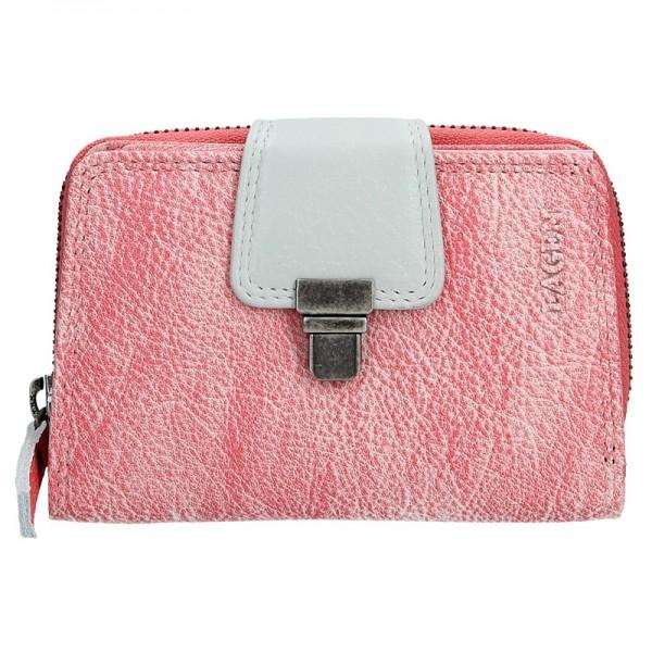 Dámská kožená peněženka Lagen Lea - růžová