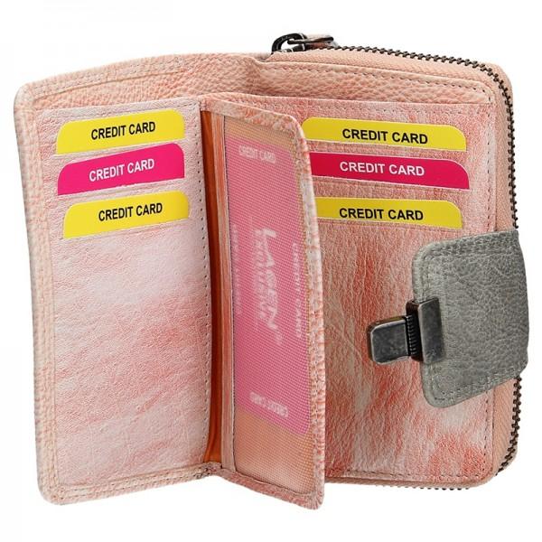 Dámská kožená peněženka Lagen Lea - světle růžová