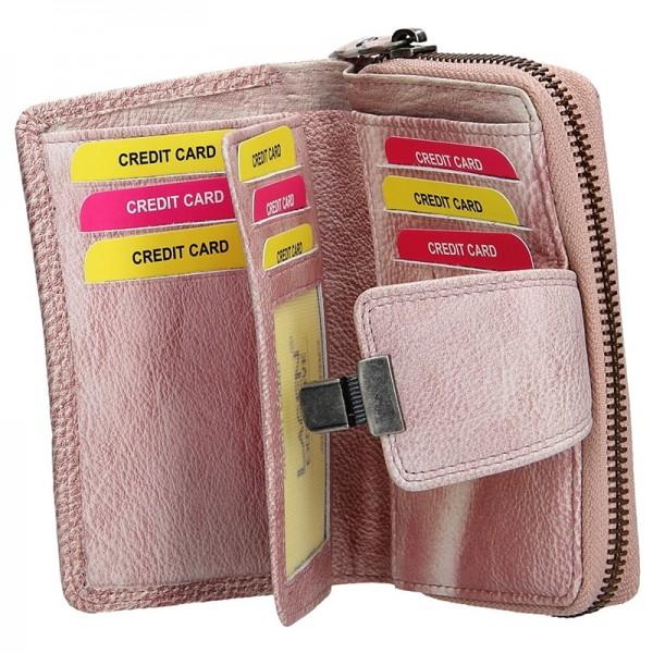 Dámská kožená peněženka Lagen Lea - fialová