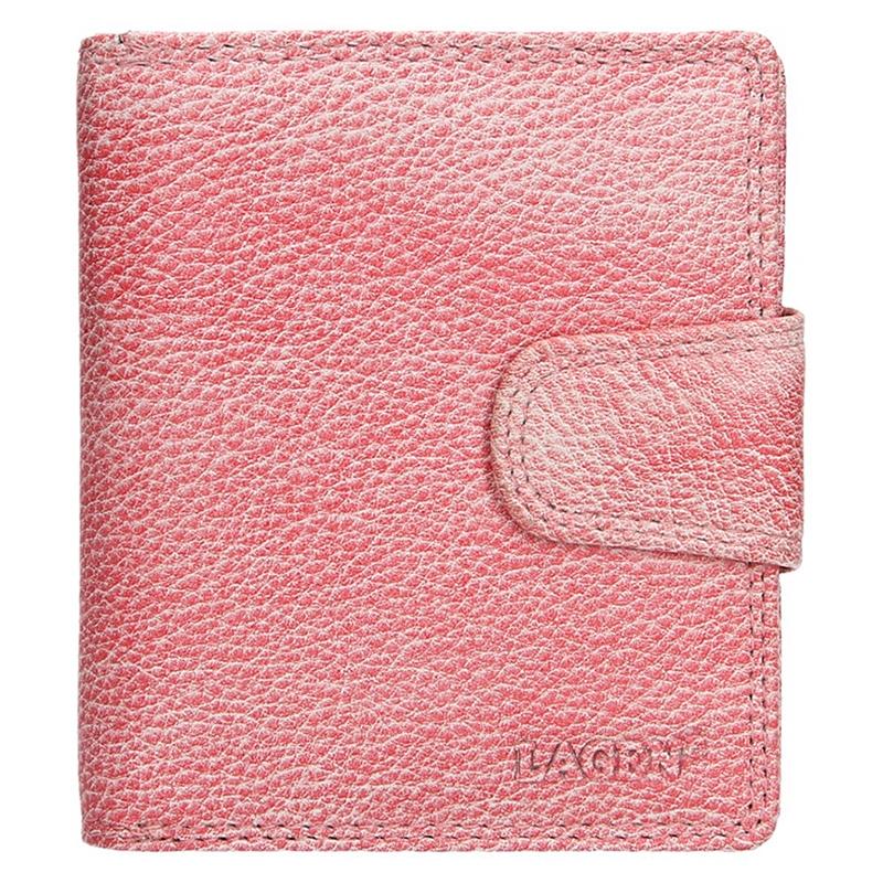 d19a8791b71 Dámská kožená peněženka Lagen Marla - růžová