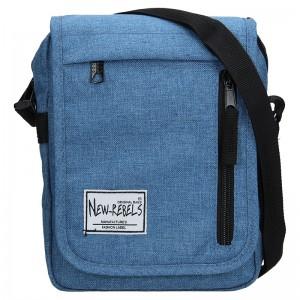 Pánská taška přes rameno New Rebels Bruno - světle modrá
