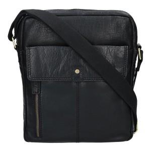 Pánská kožená taška přes rameno Lagen Luis - černá