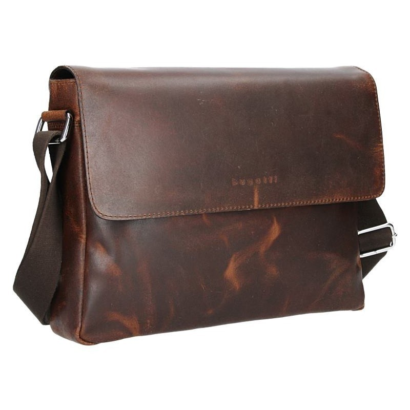 Pánská kožená taška přes rameno Bugatti Olav - hnědá