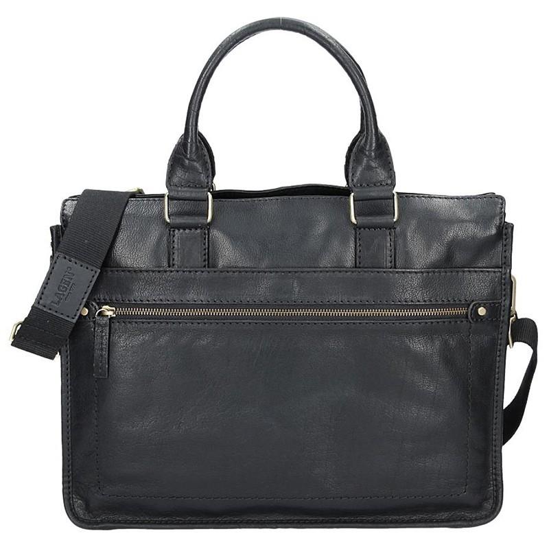 Pánská kožená taška přes rameno Lagen Bertram - černá 135758c3279