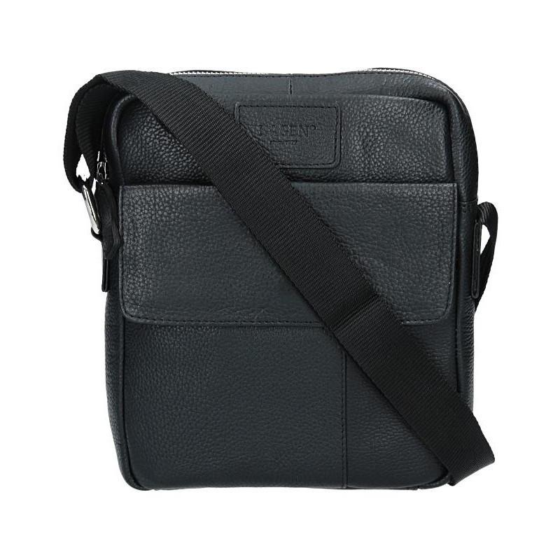 Pánská kožená taška přes rameno Lagen Paul - černá