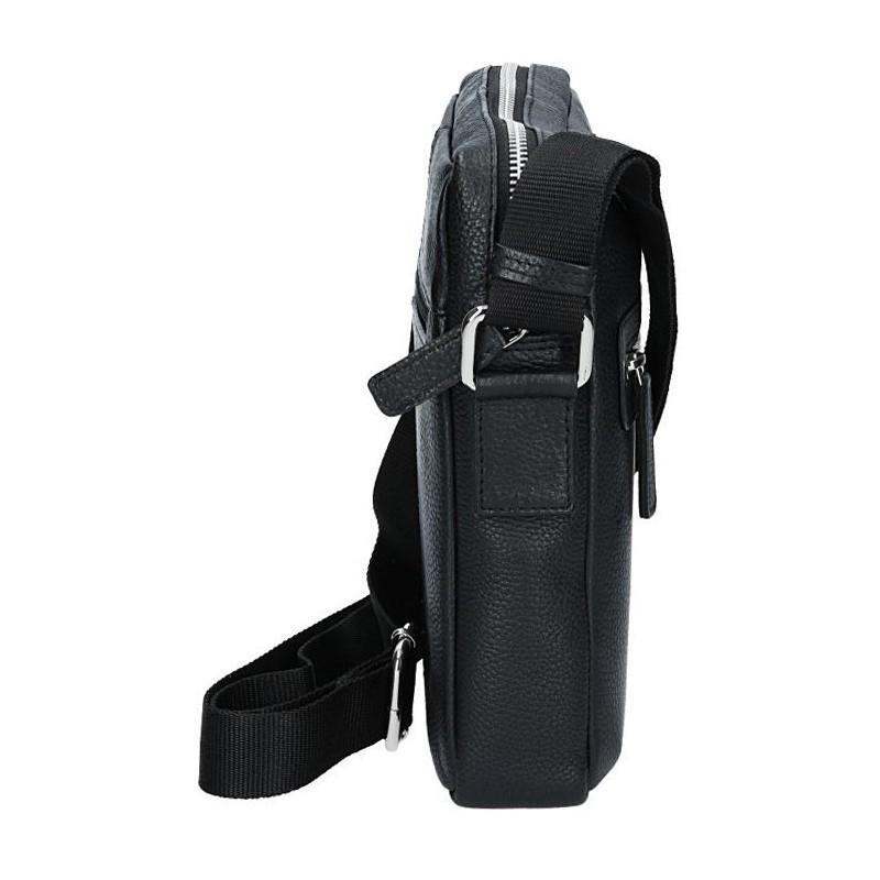 Pánská kožená taška přes rameno Lagen Loyd - černá